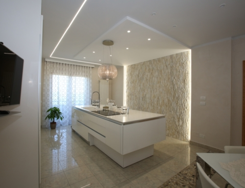 Cucina ad isola con lavello integrato